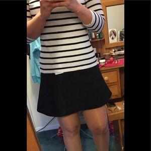JCrew Flippy Mini Skirt - in black